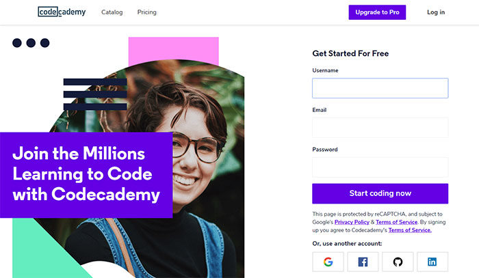 codeacademy-700x407 Great school website design: 51 Academic websites