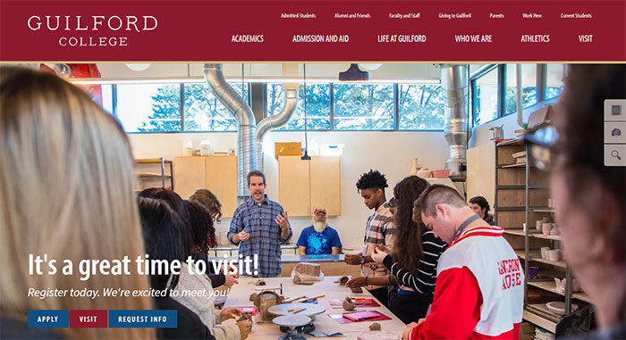 guilford-700x381 Great school website design: 51 Academic websites