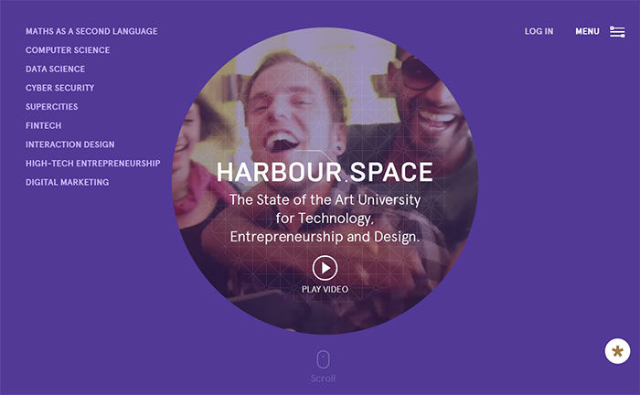 harbourspace-700x432 Great school website design: 51 Academic websites