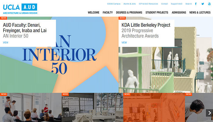 ucla-700x401 Great school website design: 51 Academic websites