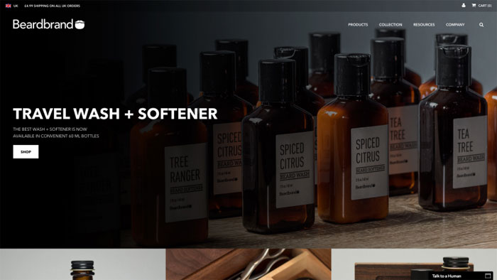 Beardbrand The best beauty websites you can find online (29 Examples)