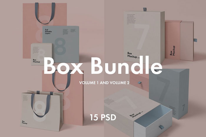 Box-and-bag-bundle Get the best packaging mockup for your product: Free and premium options