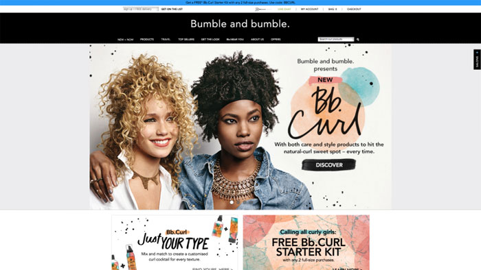 Bumble-and-bumble The best beauty websites you can find online (29 Examples)