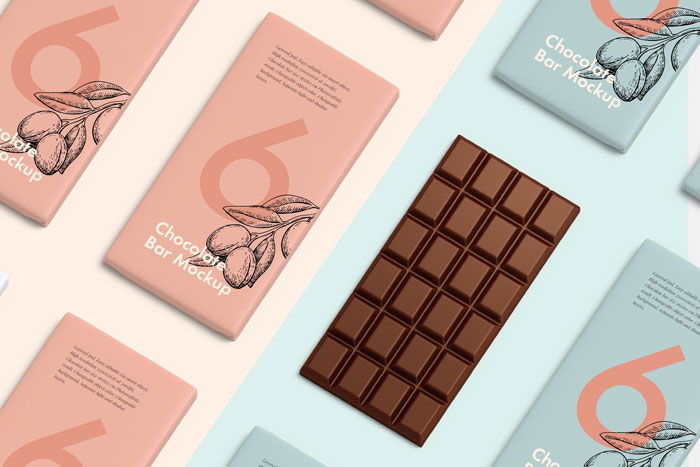 Chocolate-bar Get the best packaging mockup for your product: Free and premium options