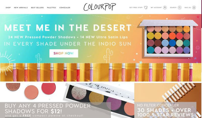 Colourpop The best beauty websites you can find online (29 Examples)