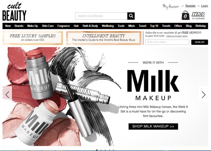 Cult-Beauty The best beauty websites you can find online (29 Examples)