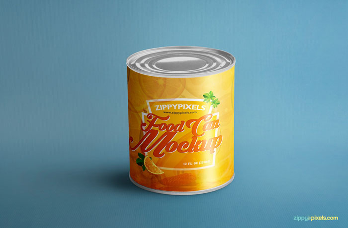 Food-can-mockup Get the best packaging mockup for your product: Free and premium options