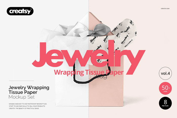 Jewlery-wrapping-paper Get the best packaging mockup for your product: Free and premium options
