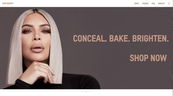 KKW The best beauty websites you can find online (29 Examples)
