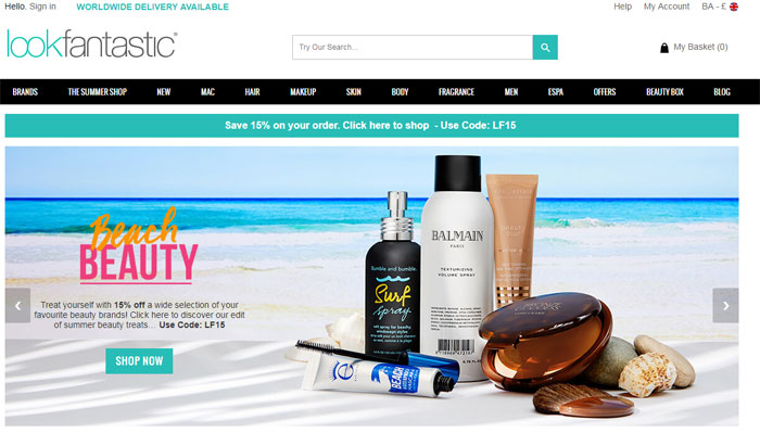 Look-Fantastic The best beauty websites you can find online (29 Examples)