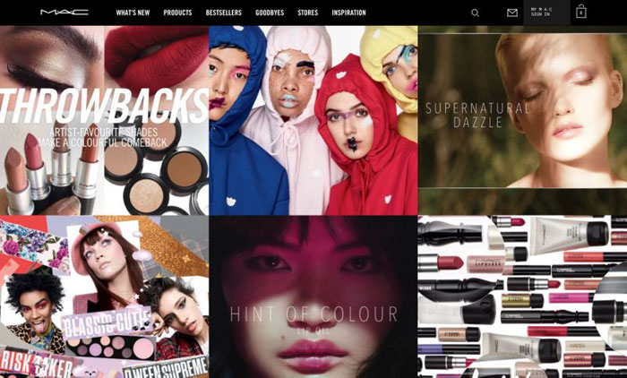 MAC The best beauty websites you can find online (29 Examples)