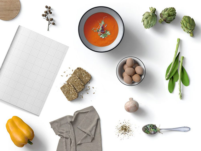 Magazine-and-food Get the best packaging mockup for your product: Free and premium options
