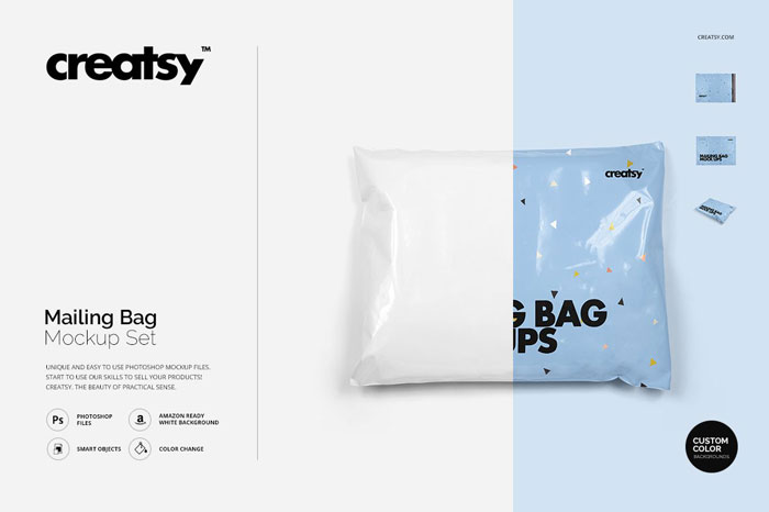 Mailing-bag-mockup Get the best packaging mockup for your product: Free and premium options