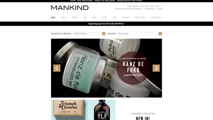 Mankind The best beauty websites you can find online (29 Examples)