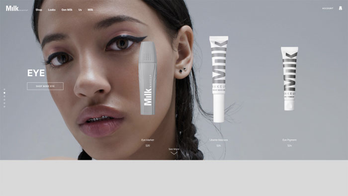 Milk-1 The best beauty websites you can find online (29 Examples)