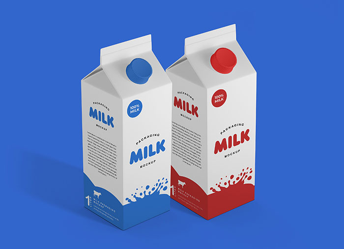 Milk Get the best packaging mockup for your product: Free and premium options