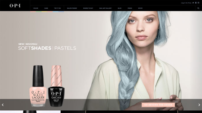 OPI The best beauty websites you can find online (29 Examples)