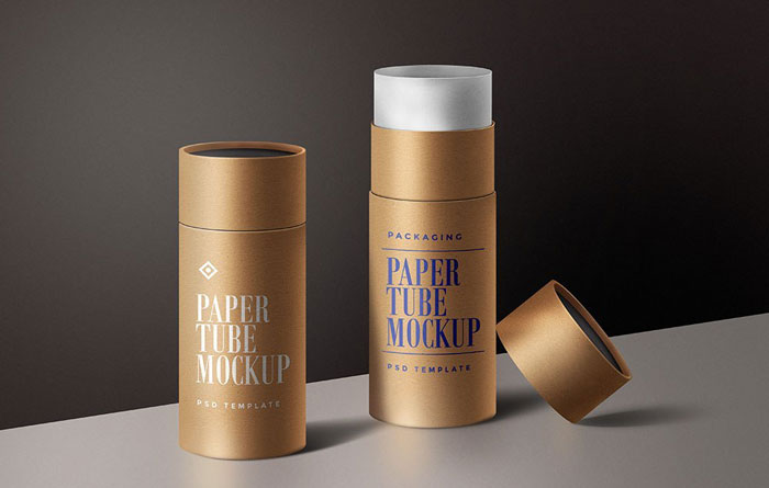 Paper-tube-mockup Get the best packaging mockup for your product: Free and premium options