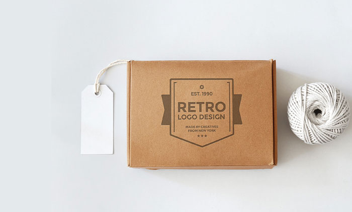 Retro Get the best packaging mockup for your product: Free and premium options