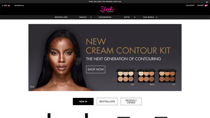 Sleek The best beauty websites you can find online (29 Examples)