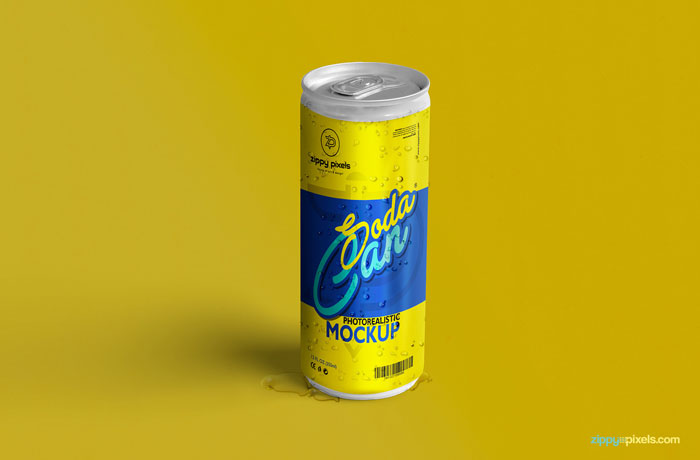 Soda-can Get the best packaging mockup for your product: Free and premium options