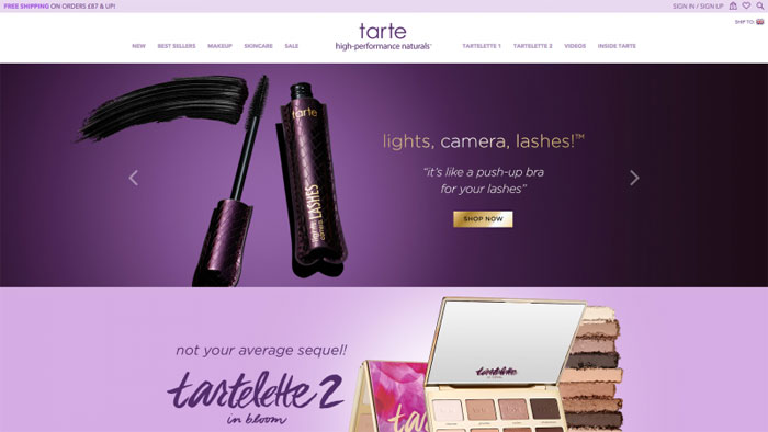 Tarte The best beauty websites you can find online (29 Examples)