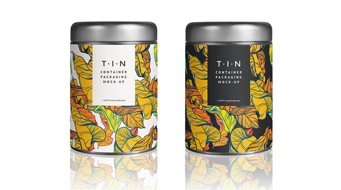 Tin-container Get the best packaging mockup for your product: Free and premium options