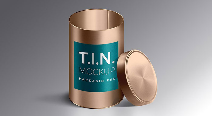 Tin-mockup Get the best packaging mockup for your product: Free and premium options