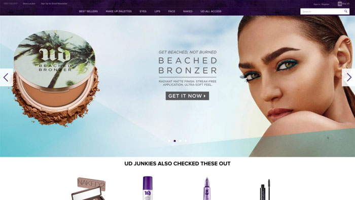 Urban-Decay The best beauty websites you can find online (29 Examples)