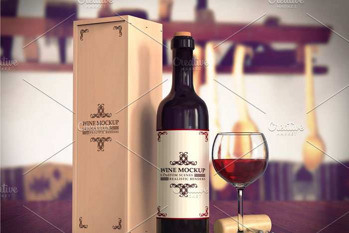 Wine-mockup Get the best packaging mockup for your product: Free and premium options