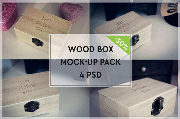 Wood-box Get the best packaging mockup for your product: Free and premium options