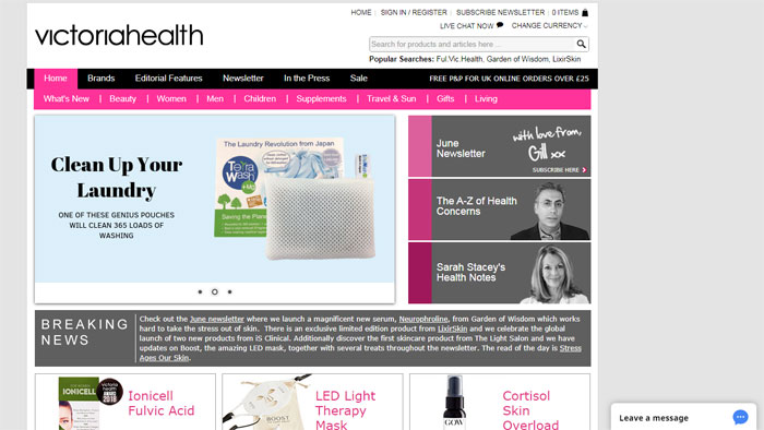 victoria-health The best beauty websites you can find online (29 Examples)