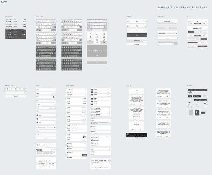 Get the best Sketch wireframe kit resources: Free and Premium