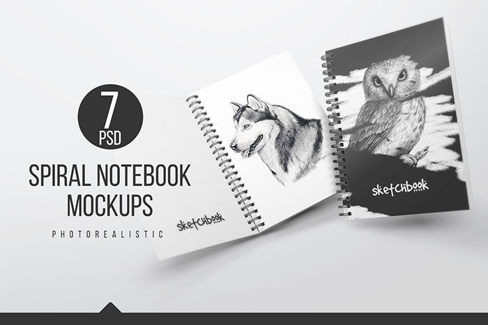 A5-Spiral-Notebook-700x467 Grab these notebook mockup templates for free (plus Premium ones)