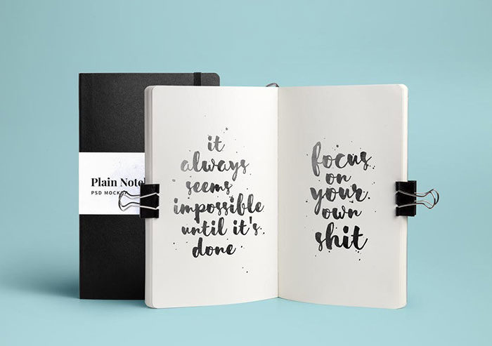 Open-and-closed-Notebook-Mockup-700x493 Grab these notebook mockup templates for free (plus Premium ones)
