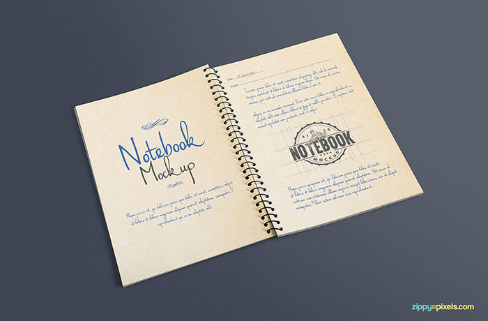 open-journal-mockup-psd-700x460 Grab these notebook mockup templates for free (plus Premium ones)