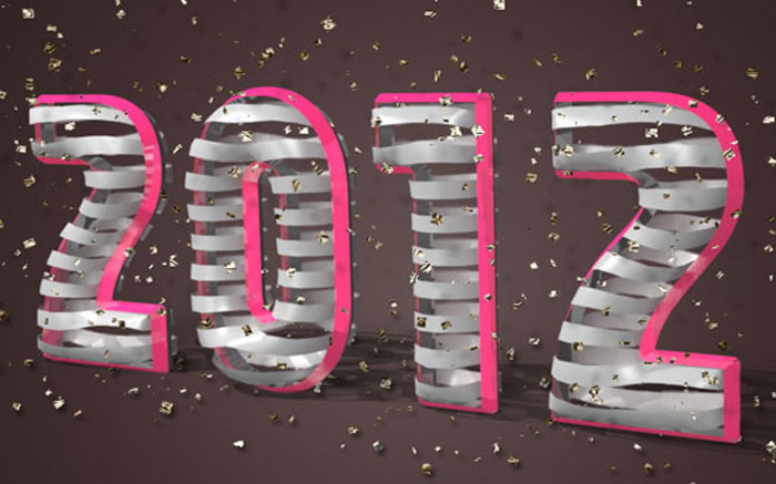 3D-Ribbon-wrapped Photoshop 3D text tutorials you should check out