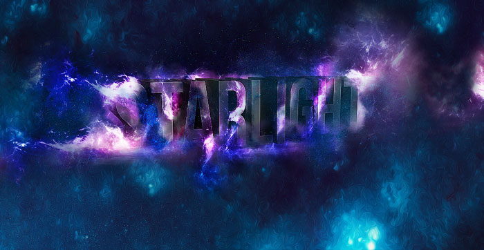 3D-starlgiht Photoshop 3D text tutorials you should check out