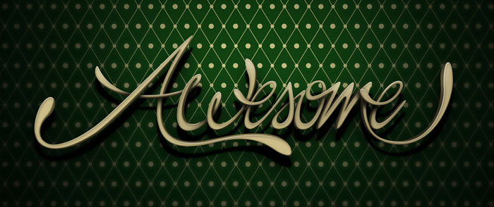 3Dstyle-lettering Photoshop 3D text tutorials you should check out