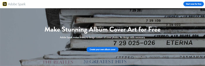 Adobe-Spark The best album cover maker tools you can use online