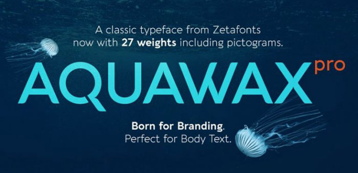 Aquawax Awesome movie fonts to create posters and movie titles