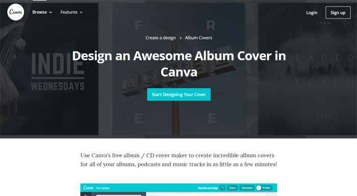 Canva The best album cover maker tools you can use online