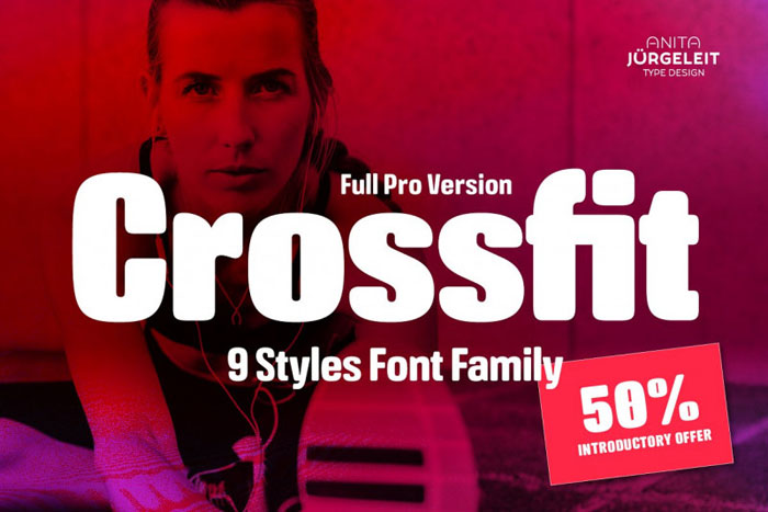 Crossfit Awesome movie fonts to create posters and movie titles