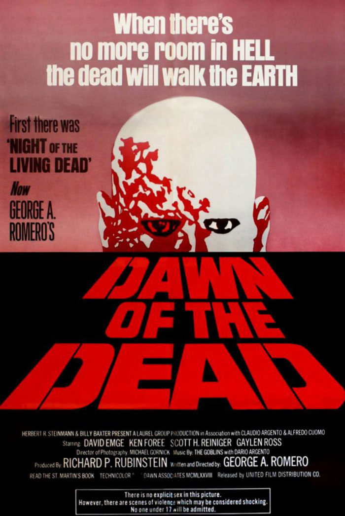 DAWN-OF-THE-DEAD-700x1046 The best movie posters: Hand picked designs you should check out