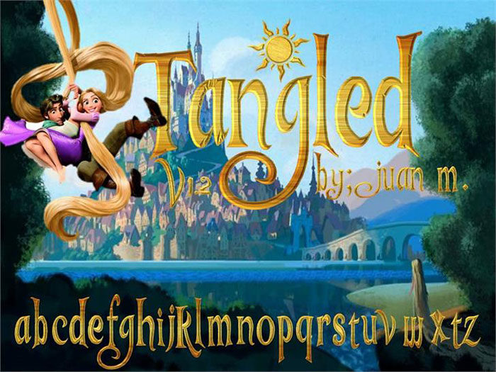 Disney-Tangled-font-700x525 Free Disney fonts: Enter the Mickey Mouse club with these quirky fonts