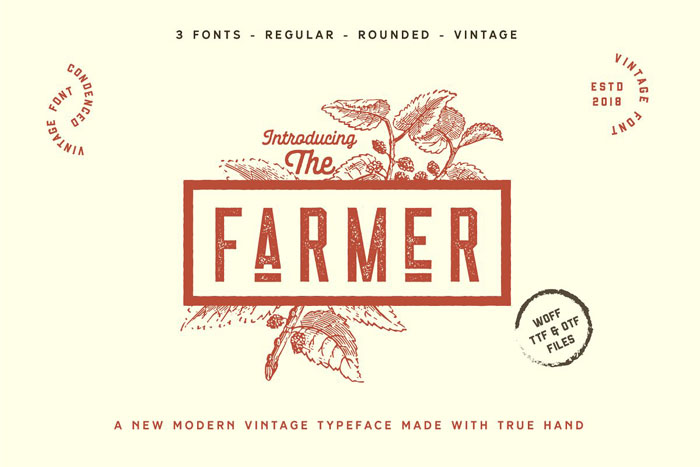 Farmer These condensed fonts were made to impress: Check them out