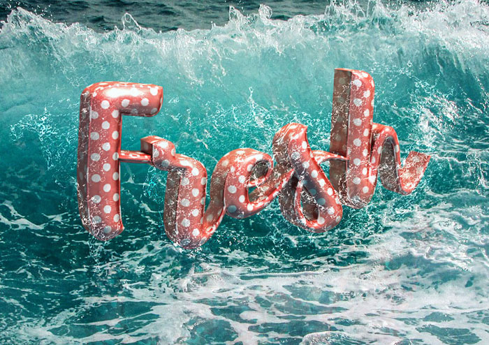 Floaties-3D Photoshop 3D text tutorials you should check out