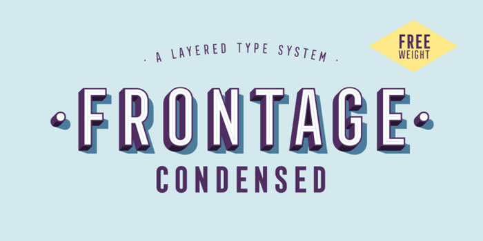 Frontage These condensed fonts were made to impress: Check them out