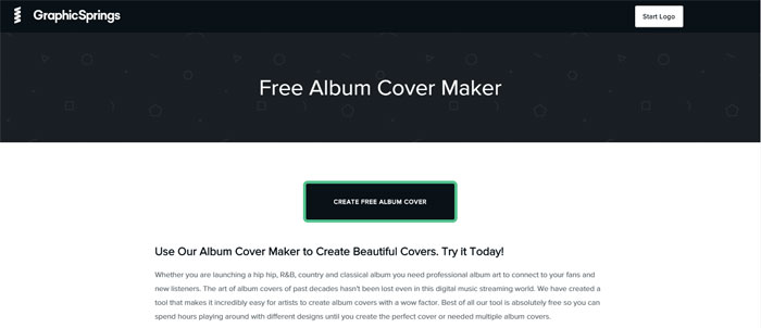 GraphicSprings The best album cover maker tools you can use online