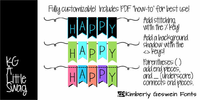 KG-A-Little-Swag-Font-Cheerful-Simplicity-700x350 Fun happy birthday fonts you can download with a click